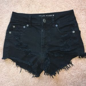 FAVORITE american eagle black shorts